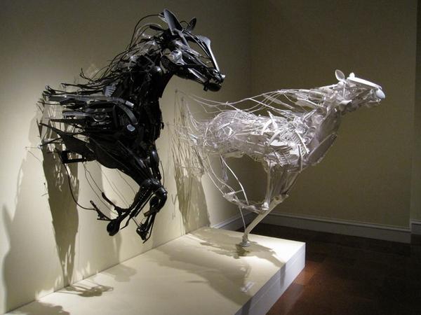 Скульптуры из вторсырья Sayaka Kajita Ganz