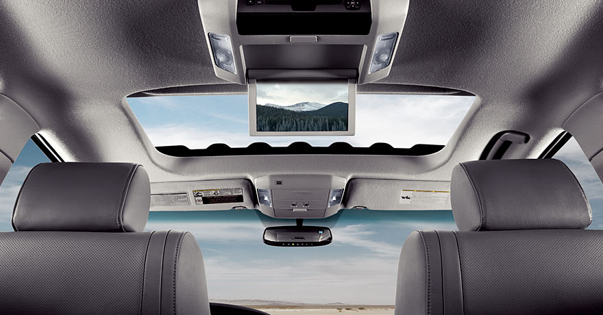 Available rear-seat DVD entertainment system