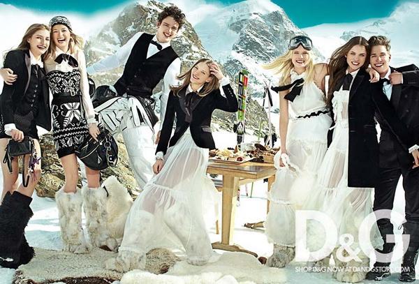 Рекламная кампания D&G Осень 2010<br />