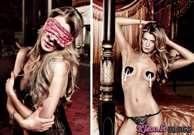 Elle Liberachi в рекламе нижнего белья Baci