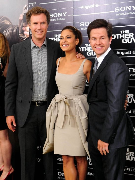 Will Ferrell, Eva Mendes and Mark Wahlberg