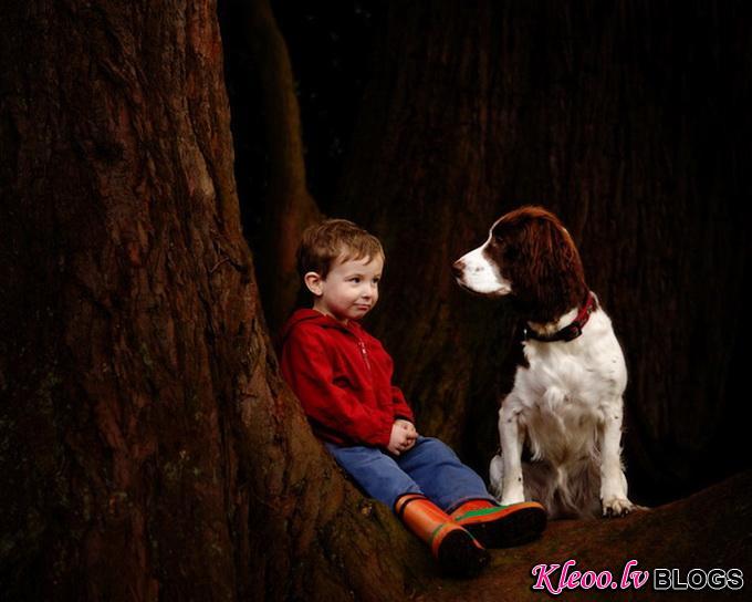 Собаки с друзьями Paul Walker