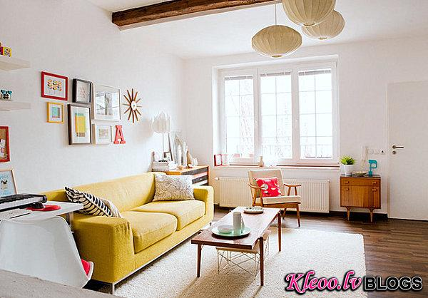 Radiant bursts of color in a white living room