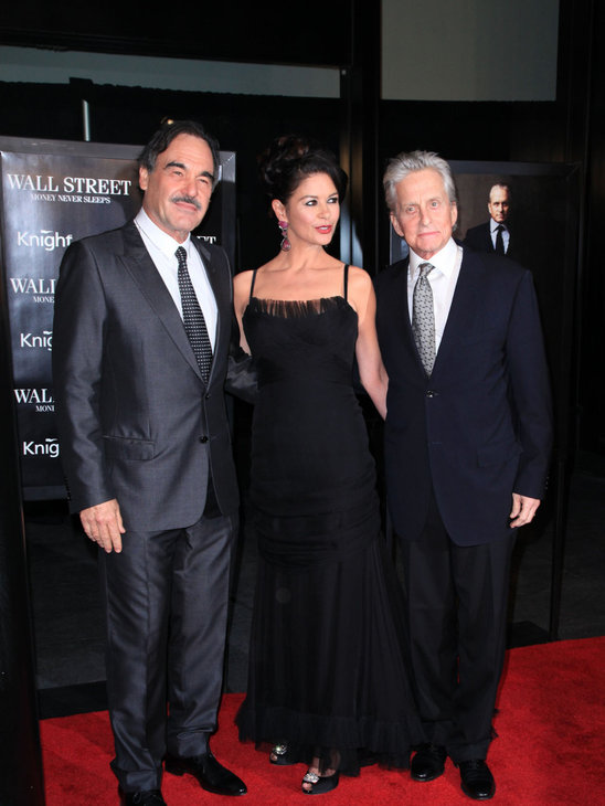 Oliver Stone, Michael Douglas and Catherine Zeta-Jones