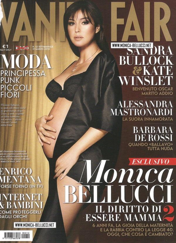 Pregnant Monica Bellucci in Vanity Fair