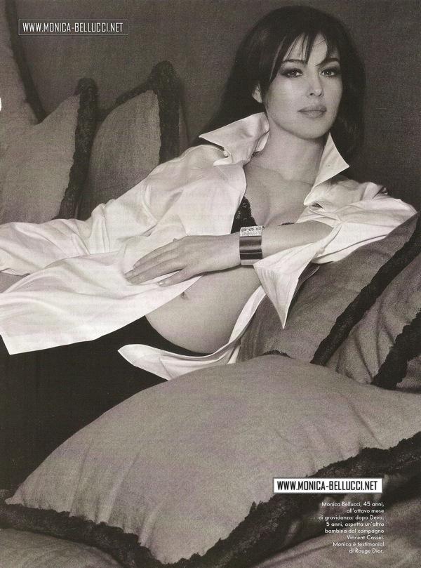 Моника Белуччи - беременная в журнале Vanity Fair