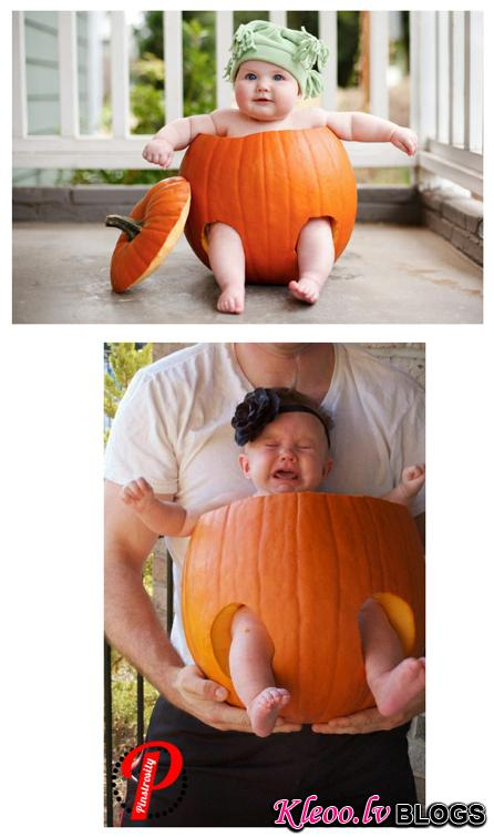 14. Pumpkin babies are less adorable when they are so upset