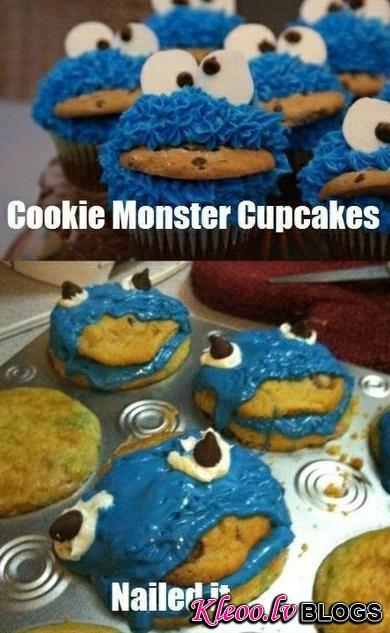 4. Cookie monster cookies that look like real monsters