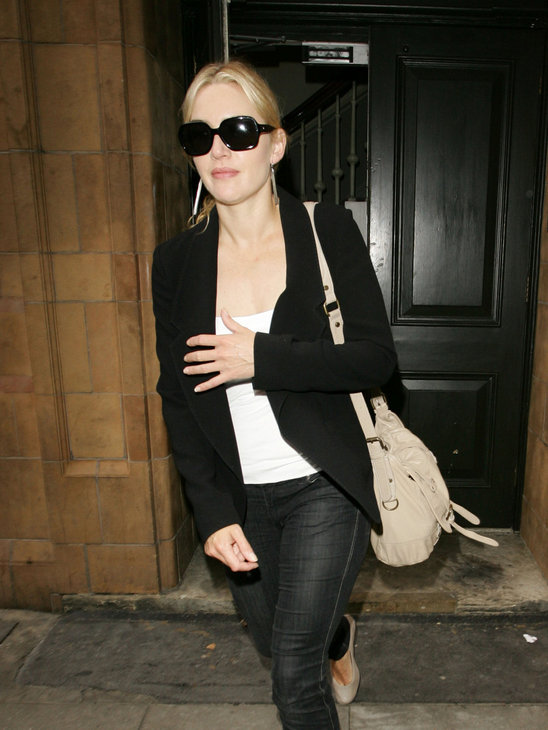 Kate Winslet is in love again and is dressing to impress in a classic black and white combo