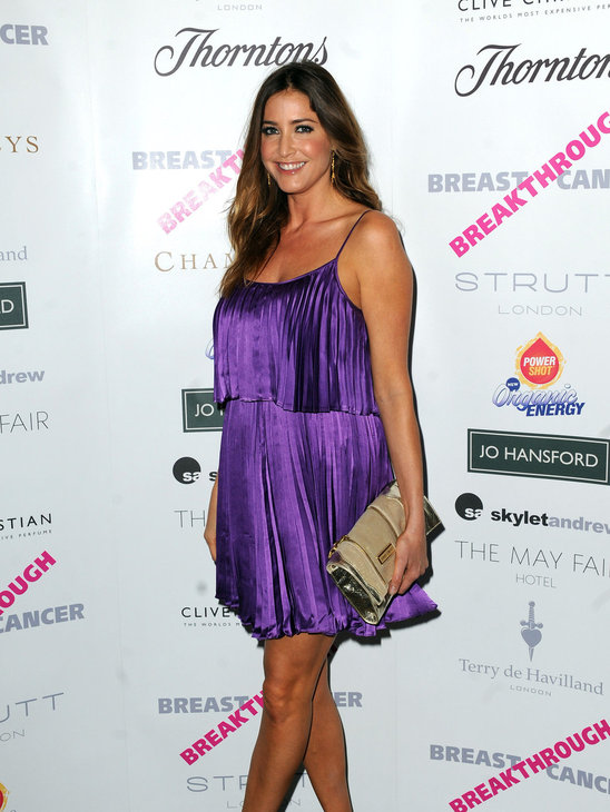 9. Lisa Snowdon has made herself look totally frumpy in this purple mini dress! It has taken away her waistline and makes her look like she has a tummy problem going on as well.  A pity because the color is so pretty on her, but the the flat hair is doing nothing to help her either!