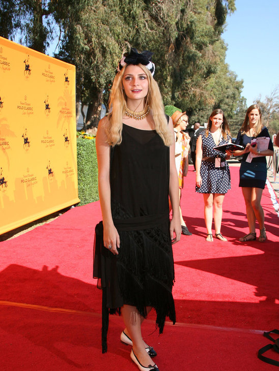 7. Ok so Mischa Barton was at a vintage themed party, but that is no excuse to wear something sad! This black swing dresss does nothing for her figure and the hat totally overwhelms her face, especially with all that black eyeliner!