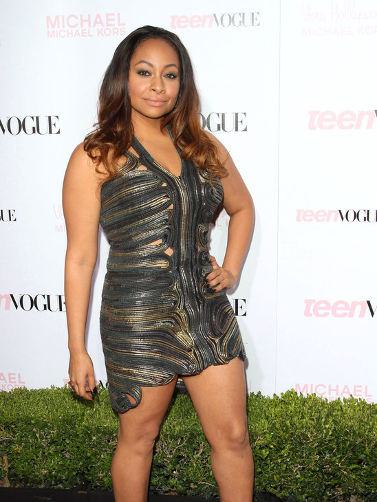 4.We have watched Raven Symone struggle with finding a style that suits her curves for years now and we don't understand why she still can't get it right! This dress is way too short and tight and is see-through in all the wrong places too. Not sexy sorry!