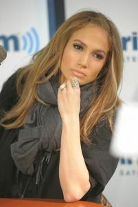 Jennifer Lopez Sirius XM studijā Ņujorkā