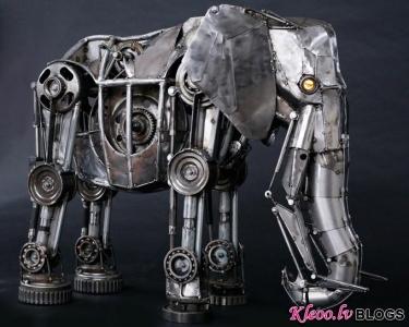 Andrew Chase skulptūras.