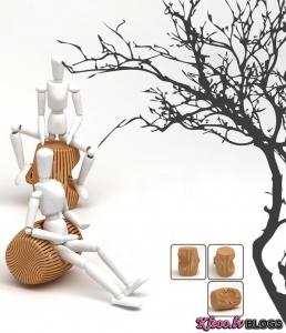 Diozainera Ryan Jongwoo Choi krēsli.