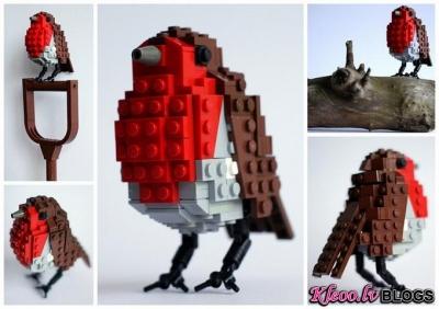 Putni no LEGO.