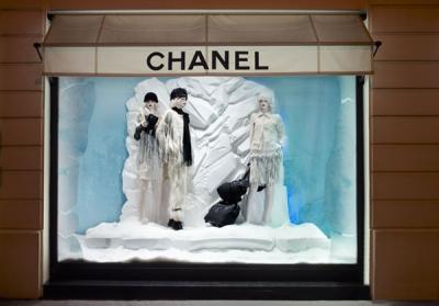 Chanel vitrīnas gatavas ziemai