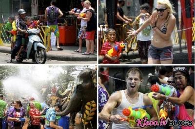 """Jaunā Gada svētki """"Songkran"""" Taizemē."""
