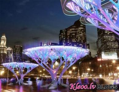 Светящиеся деревья - изящный проект по очистке воздуха