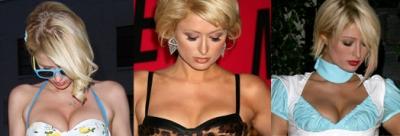 Kāpēc Parisa Hiltone vienmēr blenž uz savām krūtīm?