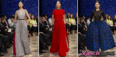 Paris Haute Couture Fashion Week: Christian Dior rudens - ziema 2012-2013 .