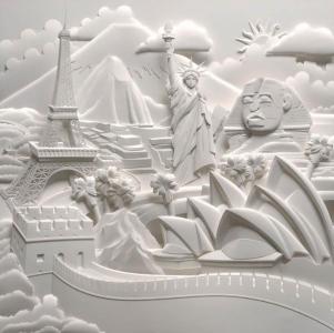 Papīra skulptūras no Jeff Nichinaka