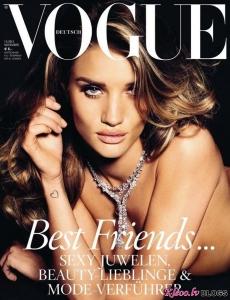 Rosie Huntington Whiteley priekš Vogue Vācija