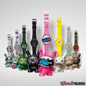 Swatch un Kidrobot jaunā kolekcija.