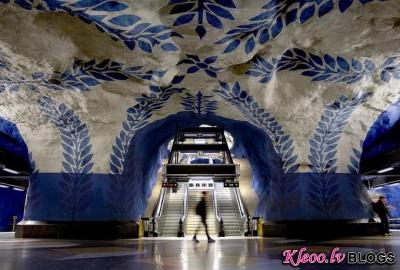 Stokholmas metro.