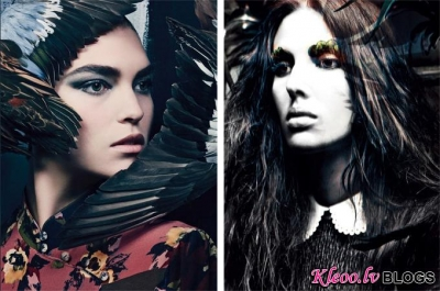 Gotiskais stils Vogue Italia .