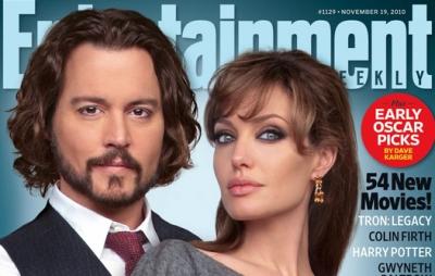 Анджелина Джоли и Джонни Депп на обложке Entertainment Weekly
