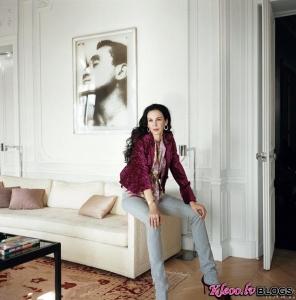 L'Wren Scott un Sir Mick Jagger apartamenti Parīzē.