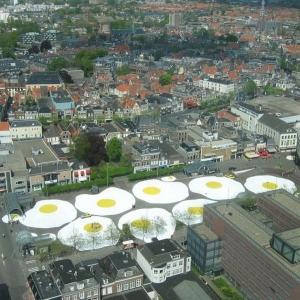 Гигантская яичница в Нидерландах