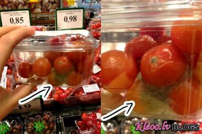 RIMI veikalā, kas atrodas T/C alfa nopērkami puvuši tomāti!