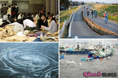 Cunami un zemestrīce Japānā.