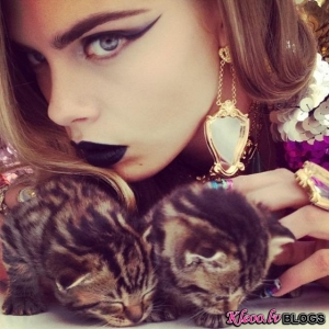 "Cara Delevingne fotosesija Pussycat, Pussycat""."
