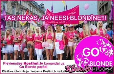 Pievienojies Kostimi.lv komandai uz Go Blonde parādi (TAS NEKAS, JA NEESI BLONDĪNE)