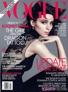 Руни Мара на обложке Vogue