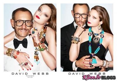Reklāmas kampaņa juvelieru brendam David Webb.