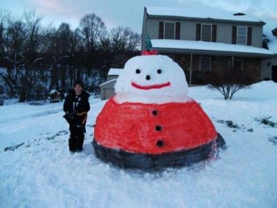 Neparastie sniega vīri