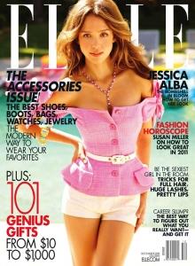 "Jessica Alba In ""Elle"" Magazine (December 2010)."