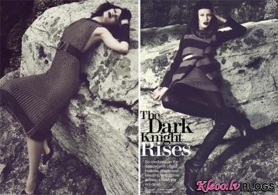 Gotiska fotosesija žurnālā Marie Claire.