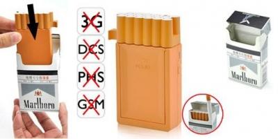Пачка сигарет – самая маленькая заглушка сигнала сотовой сети