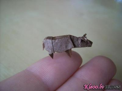 Origami miniatūrā.