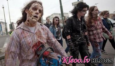«Зомби» организовали шествие в Брюсселе