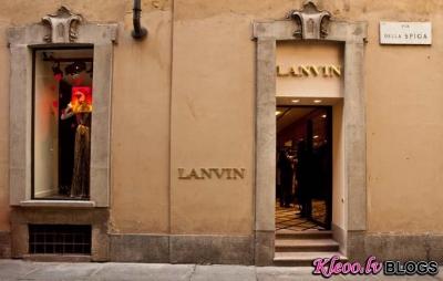 Lanvin vaikals Milānā.