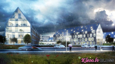 Hospitālis Odensā  no Henning Larsen Architects.