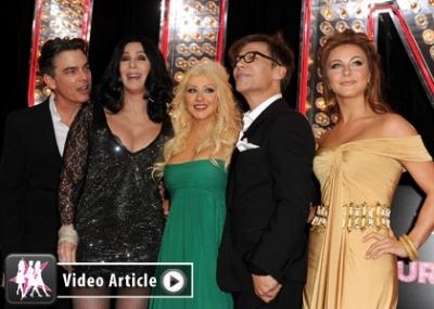 "Christina Aguilera и Cher на примьере ""Burlesque"""