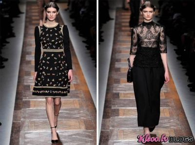 Paris Fashion Week: Valentino rudens 2012 .