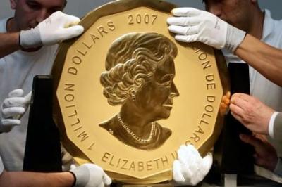 В Австрии за 4 миллиона долларов продана самая большая монета в мире